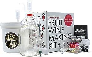 Master Vintner Fresh Harvest One Gallon Small Batch Fruit Wine Making Kit