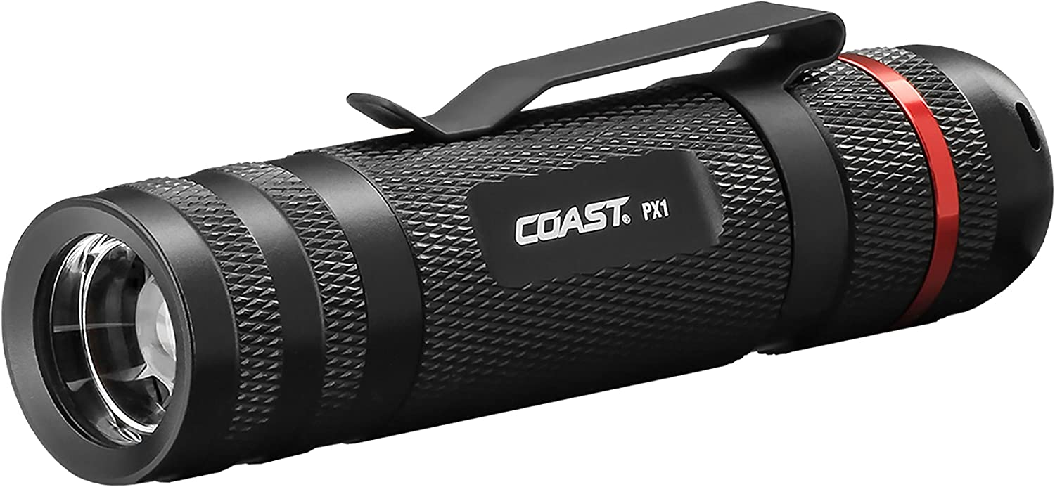 best COAST PX1 315 Lumen Pure Beam Focusing LED Flashlight with Twist Focus under $50