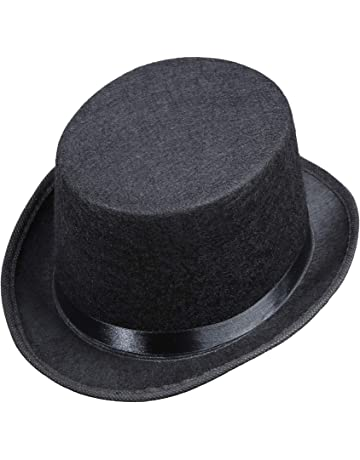0c92785178ae6b Top Felt Child Size - Black Felt Top Hats Caps & Headwear for Fancy Dress  Costumes