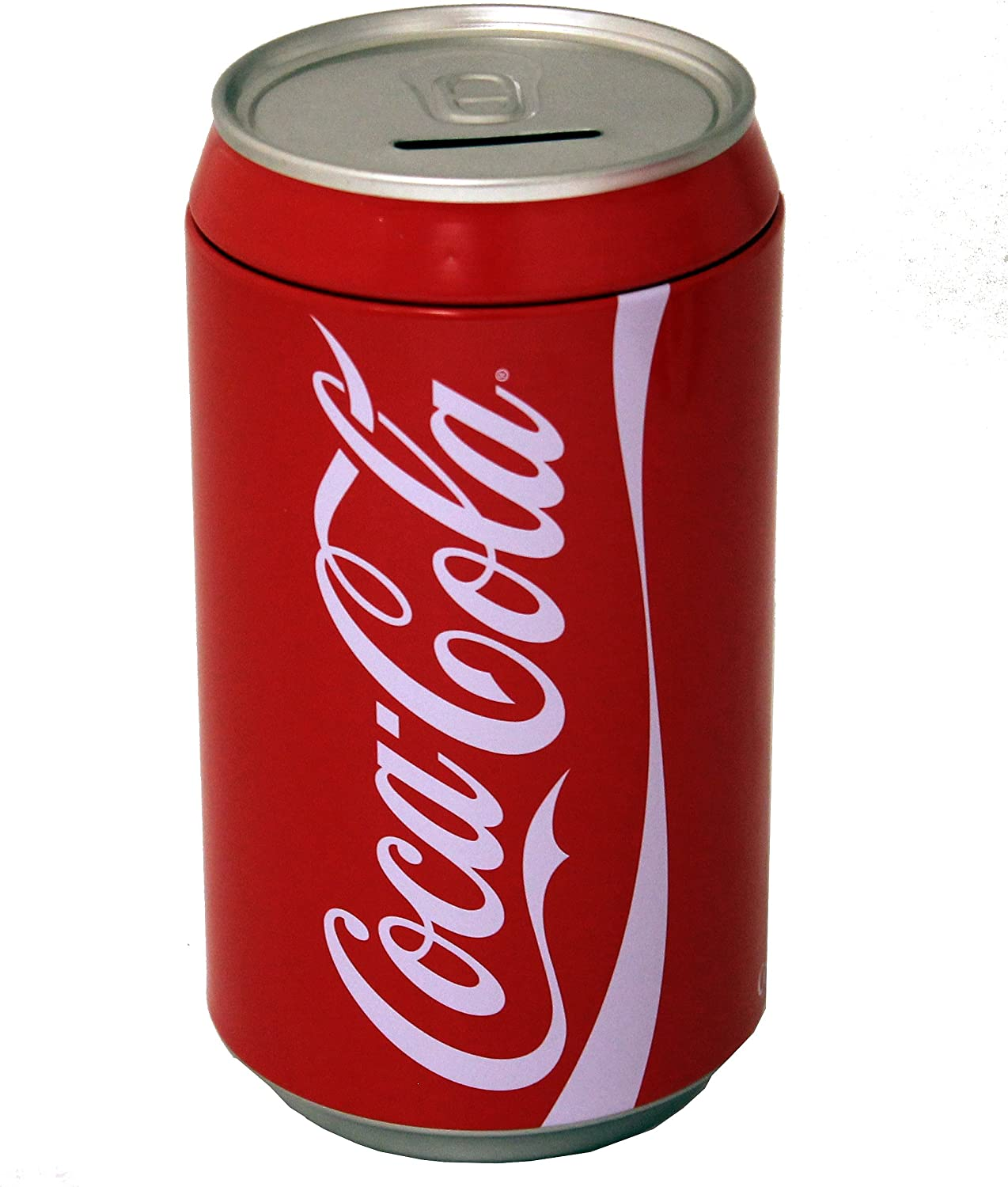 The Tin Box Company Coca Cola Can Bank with Removable Lid, Red, Model:660227-12