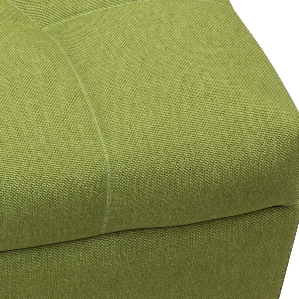 Magshion Rectangular Storage Ottoman Bench Tufted Footrest Lift Top Pouffe Ottoman, Coffee Table, Seat, Foot Rest, and more (42'', Linen Olive) by Magshion (Image #4)