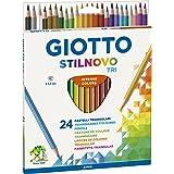 Lápis de Cor Triângular, Giotto, 257100, Stilnovo Tri com 24 cores
