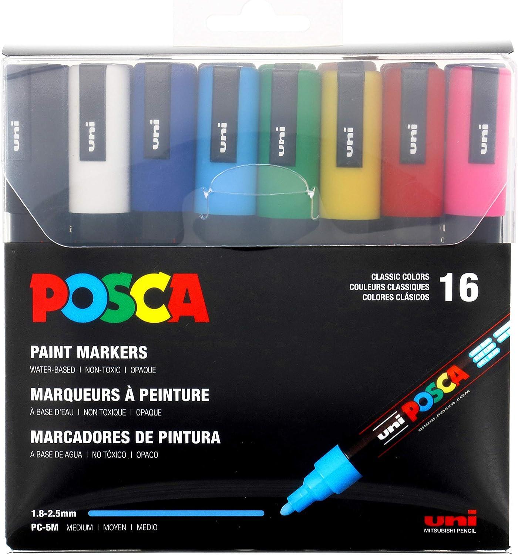 uni Posca PC-1MC Acryl-Farbmarker weiß uni-ball Acrylmarker Posca Ste... 0.7mm
