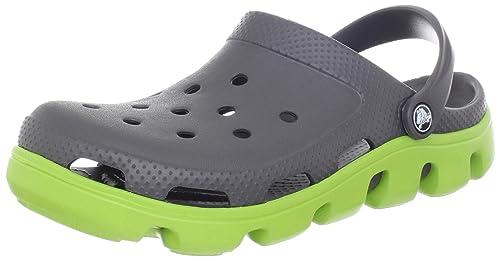 Crocs Duet Sport, Unisex-Adults' Clogs, Graphite/Volt Green, M6