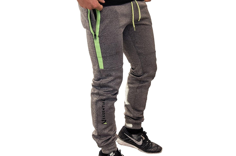 Nessential TechFleece Pants Slim-Fit Unisex │ Sporthose/Trainingshose für Damen/Herren │ Sehr hoher tolle Optik │ Minimale Schweißbildung Dank Mikro-Waschung