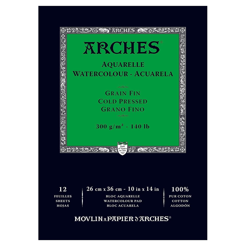 ARCHES 26 x 36 cm 300 gsm Cold Pressed Watercolour Pad 1795093