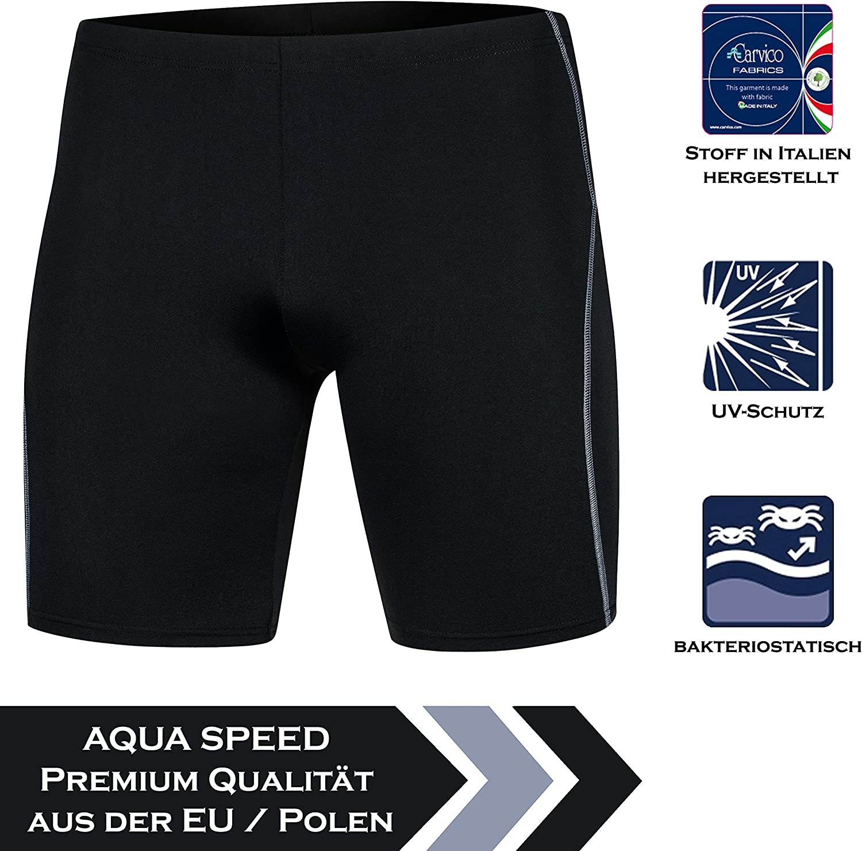 Protecci/ón UV Aqua Speed Jammer Ba/ñadores de Nataci/ón Hombre Resistente al Cloro