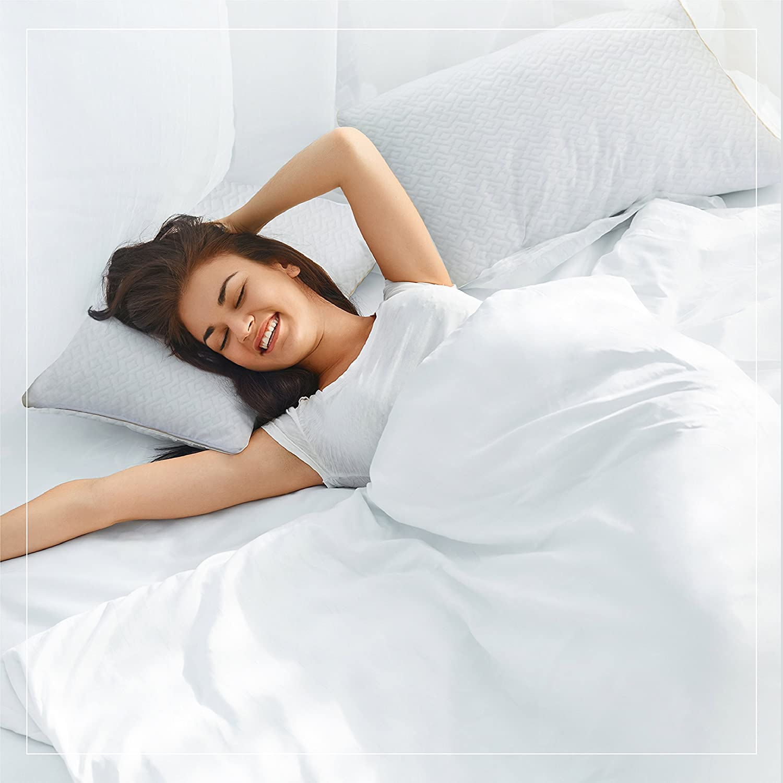 A1HC Certipur-US Cooling Fabric  Original Memory Foam Pillow 16 X 24 X 5|White