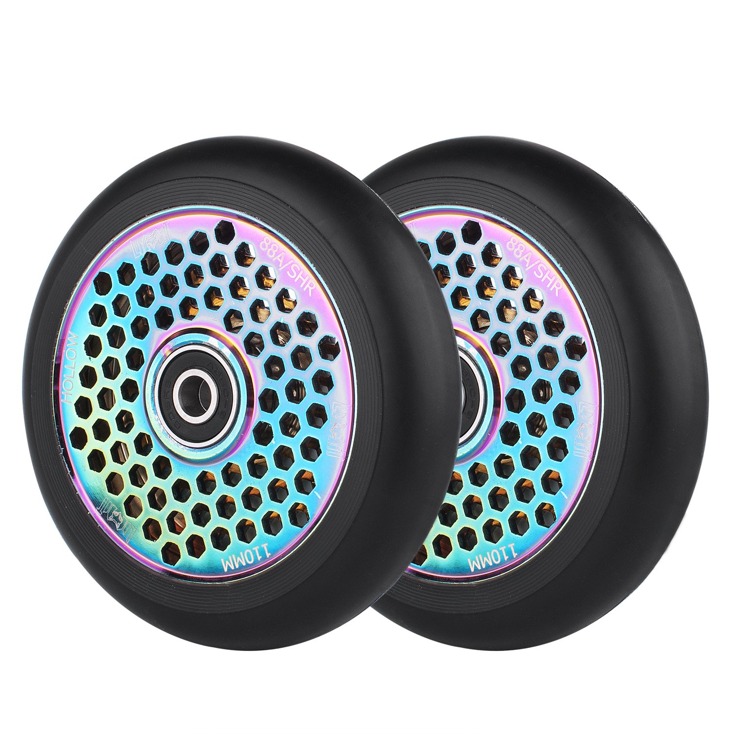 2 PCS Replacement 110mm Pro Scooter Wheel with Abec 9 Bearings Fit for MGP/Razor/Lucky Pro Scooters Z-FIRST
