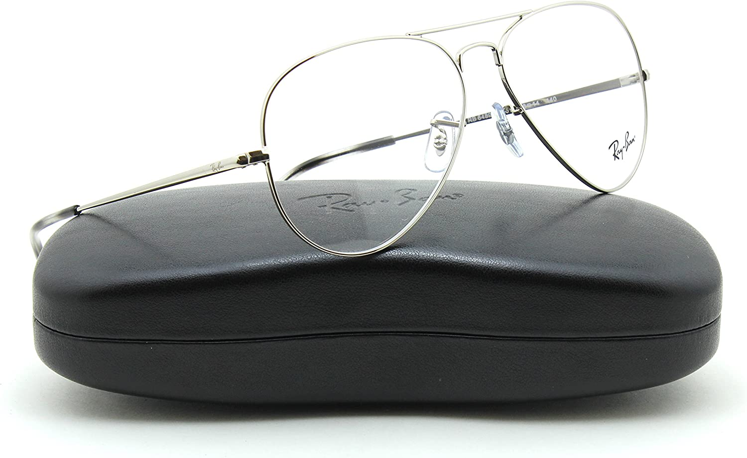ray ban silver frame glasses