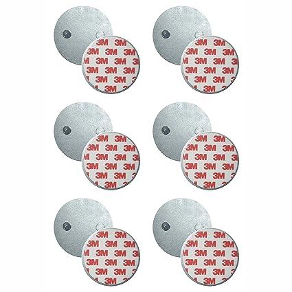 SEBSON 6x Soporte Magnético, Magnético para Detectores de Humo, Autoadhesivo, Pads Magnéticos