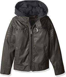 970d65d0dc97 Amazon.com  Urban Republic Boys  Texture Faux Leather Jacket Patch ...