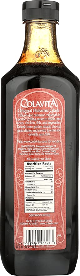 Amazon Com Colavita Balsamic Glaze 29 5 Fl Oz Grocery Gourmet Food