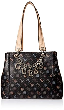 d85c7f69621 Amazon.com: GUESS Kamryn SQ Shopper, black: Clothing
