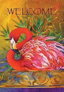 Toland Home Garden Pink Flamingo 12.5 x 18-Inch Decorative USA-Produced Garden Flag