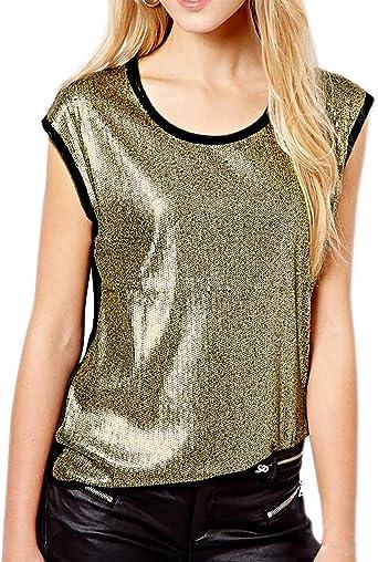 Flapper Girl - Camisas - para Mujer Dorado Dorado 40: Amazon.es: Ropa y accesorios