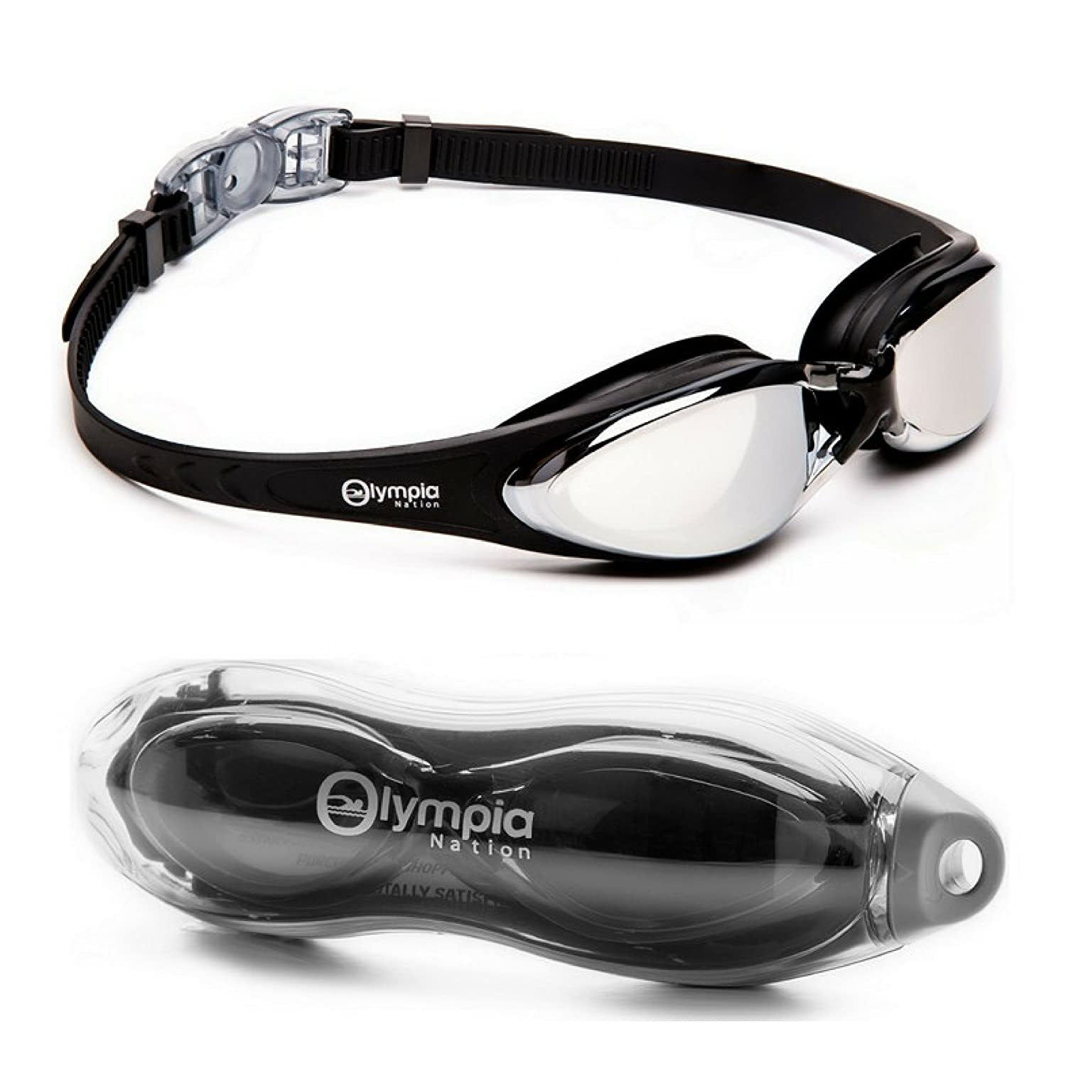 Olympia Nation Crystal Clear Comfortable Swimming Goggles with Anti-Fog Lenses, Swim Goggle for Adult Children Men Women And Kids – Swim Like A Pro