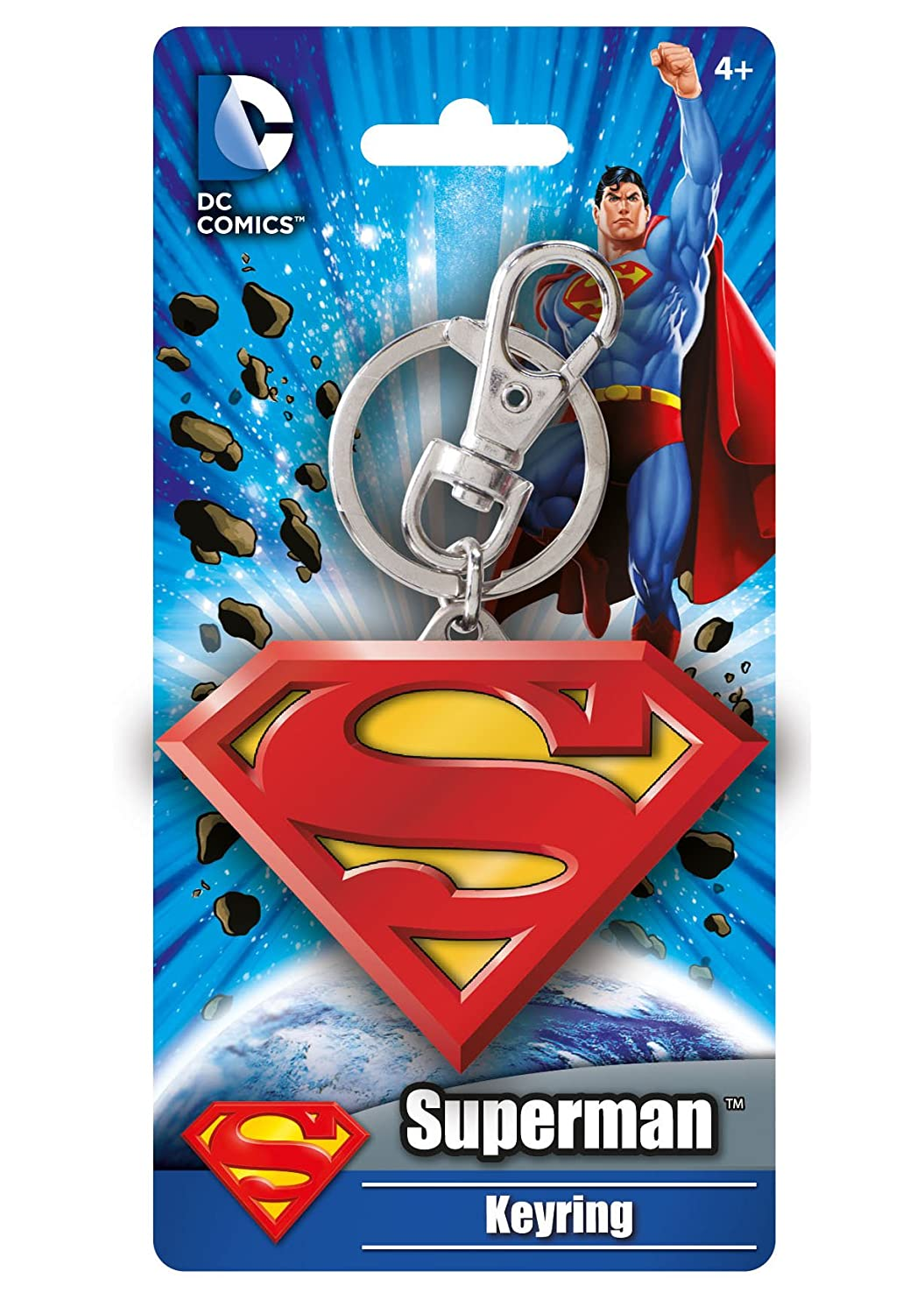 DC Colored Superman Logo Pewter Key Ring Monogram International 45083