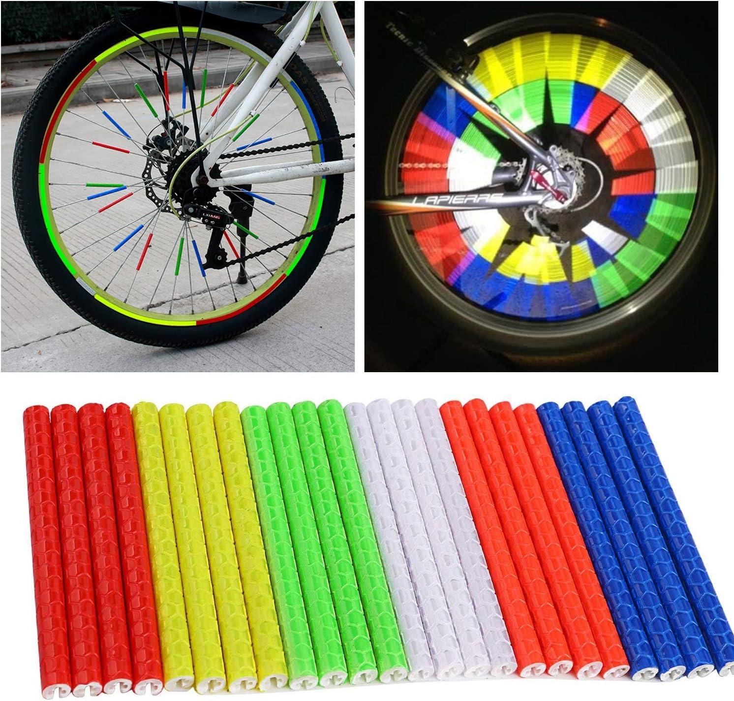 1 Set Bike Spoke Bike Wheel Spoke Reflector Universal Bike Skins Wraps Warning