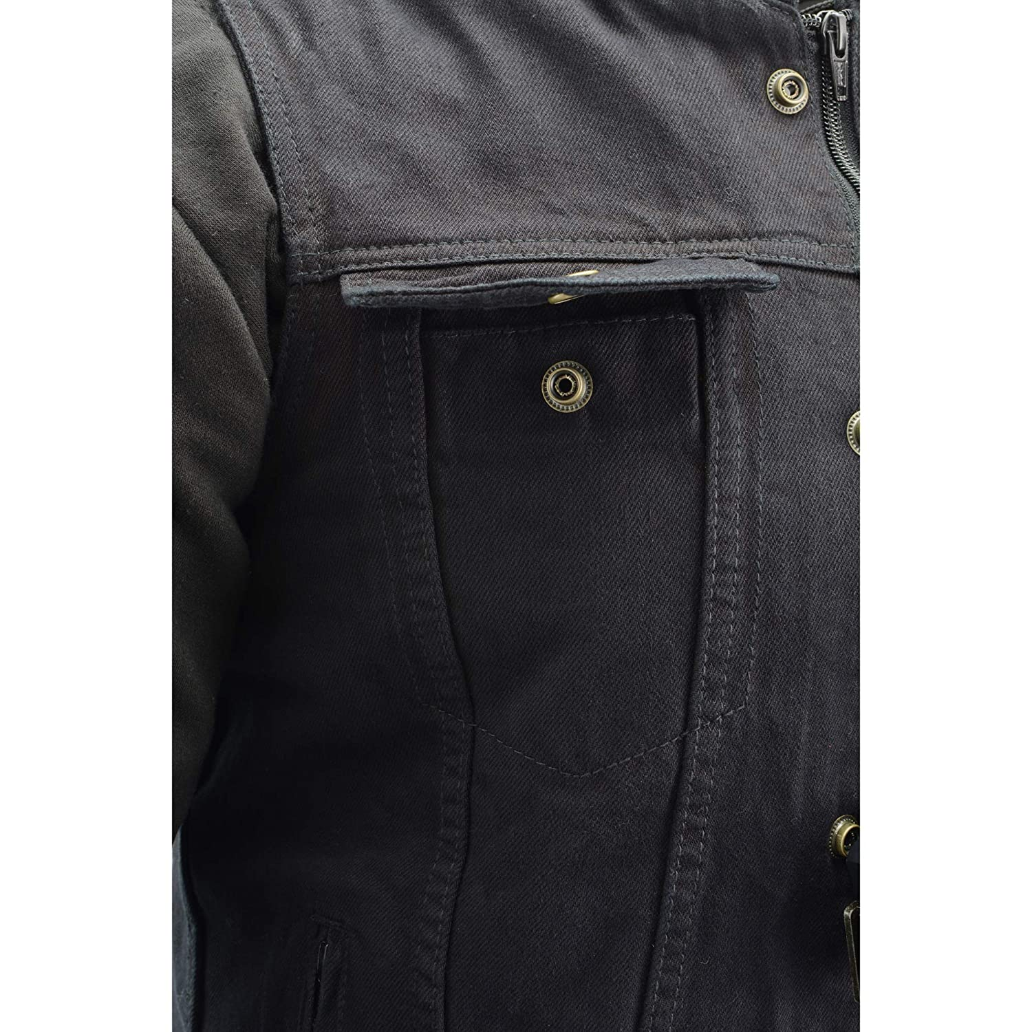 3X Milwaukee Performance-Mens Triple Option Club Style Vest with Fully Removable Hoodie Jacket Black