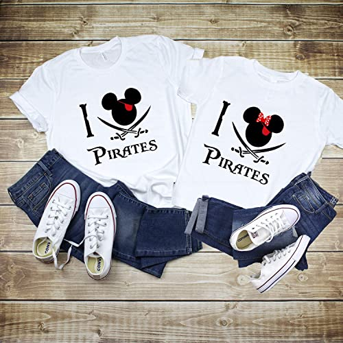 cc27ff861d Amazon.com  I love Pirates Disney Shirts