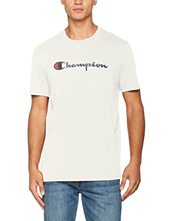 Champion Crewneck T-Shirt-Institutionals, Homme, Blanc (Vapy), Small 05ba8a784a26