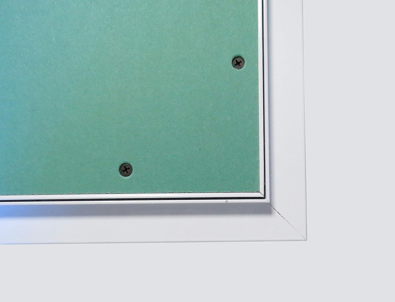 Trappe de visite 400x600mmThe White Edition avec cadre en aluminium et ouvrant en plaque de pl/âtre BA13