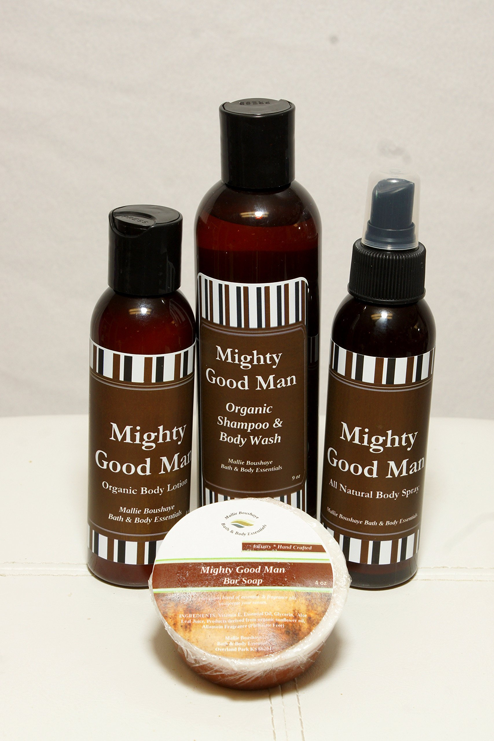 Mighty Good Man Bath & Body Collection || Men's Gift Set || Men's Products with FREE WATCH