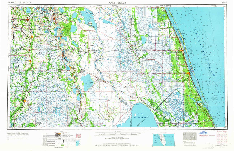 Amazon.com : YellowMaps Fort Pierce FL topo map, 1:250000 Scale, 1 X ...