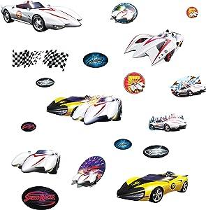 RoomMates RMK1150SCS Speed Racer Peel & Stick Wall Decals