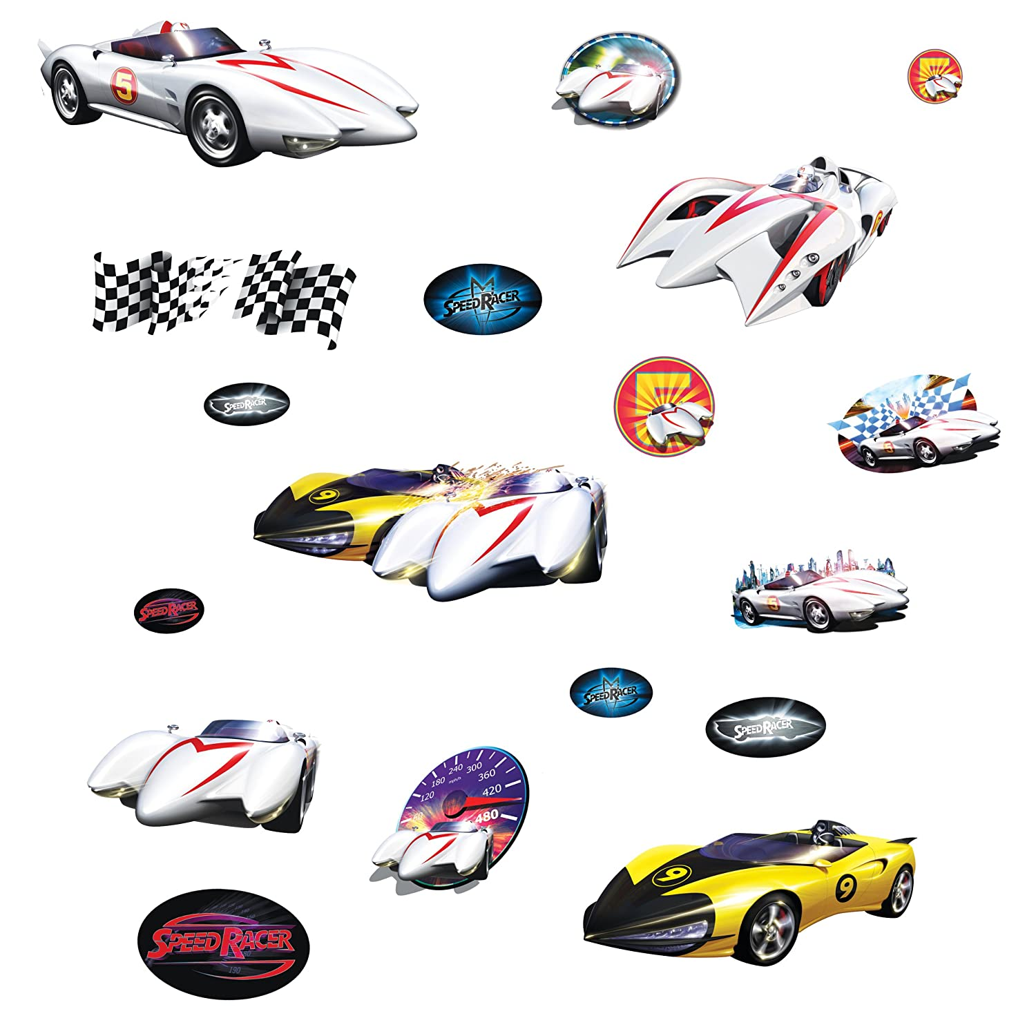 Amazon com roommates rmk1150scs speed racer peel stick wall decals home improvement