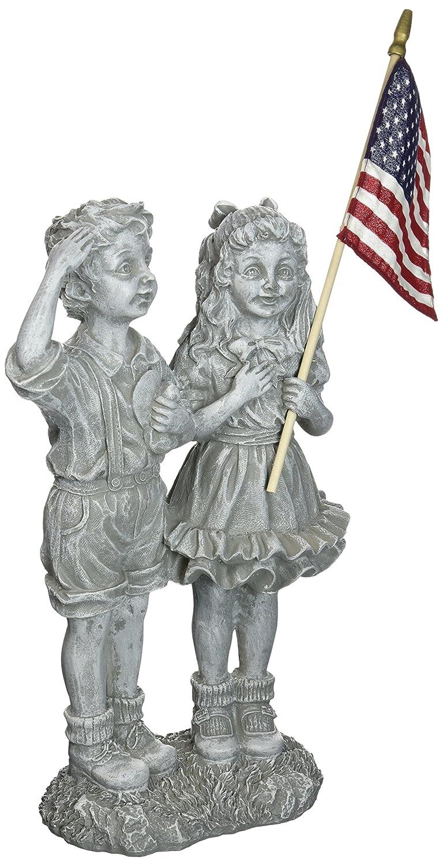 Amazon.com : Design Toscano Patriotic Flag Children Statue : Yard Art :  Patio, Lawn U0026 Garden