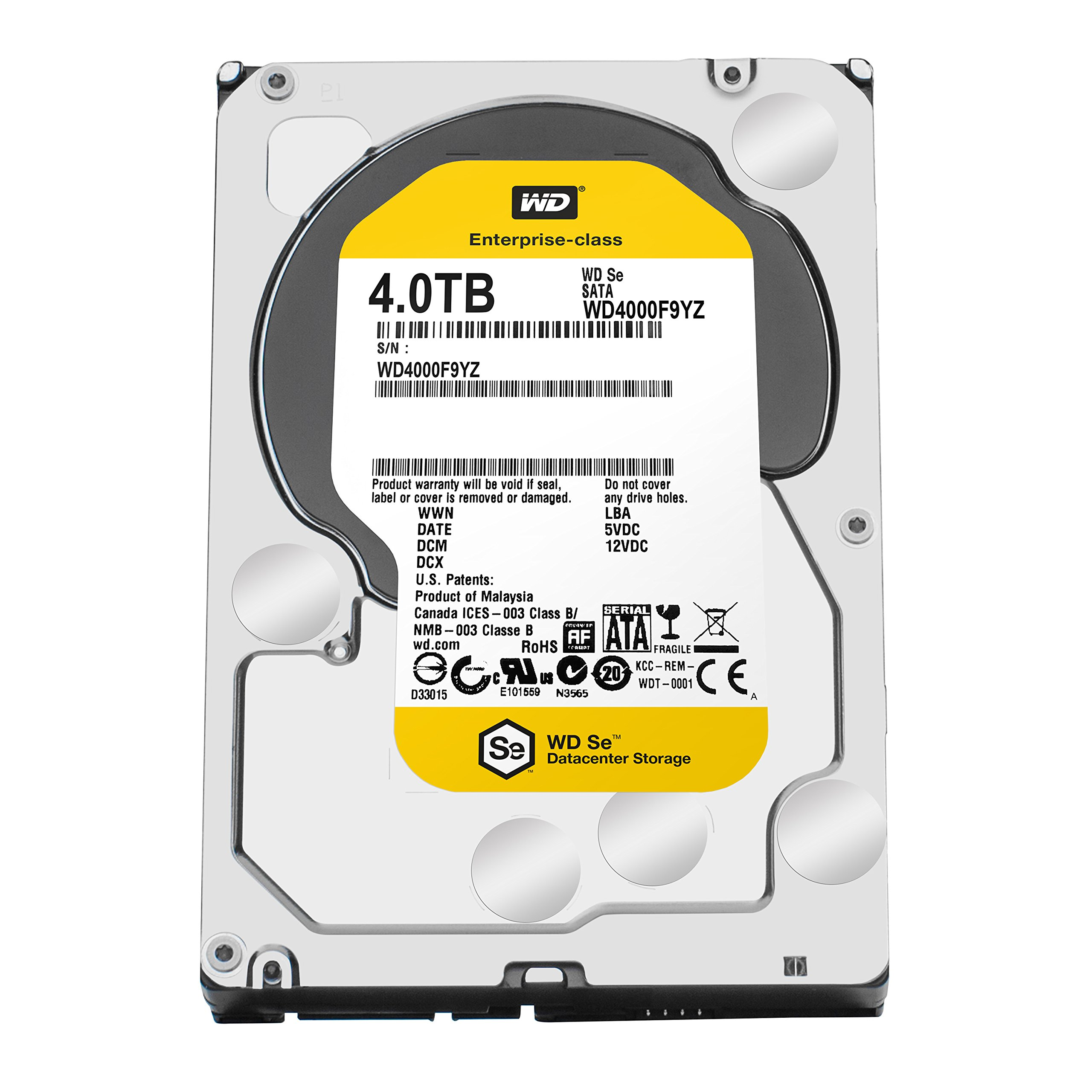 WD SE 4TB Datacenter Hard Disk Drive - 7200 RPM SATA 6 Gb/s 64MB Cache 3.5 Inch - WD4000F9YZ by Western Digital