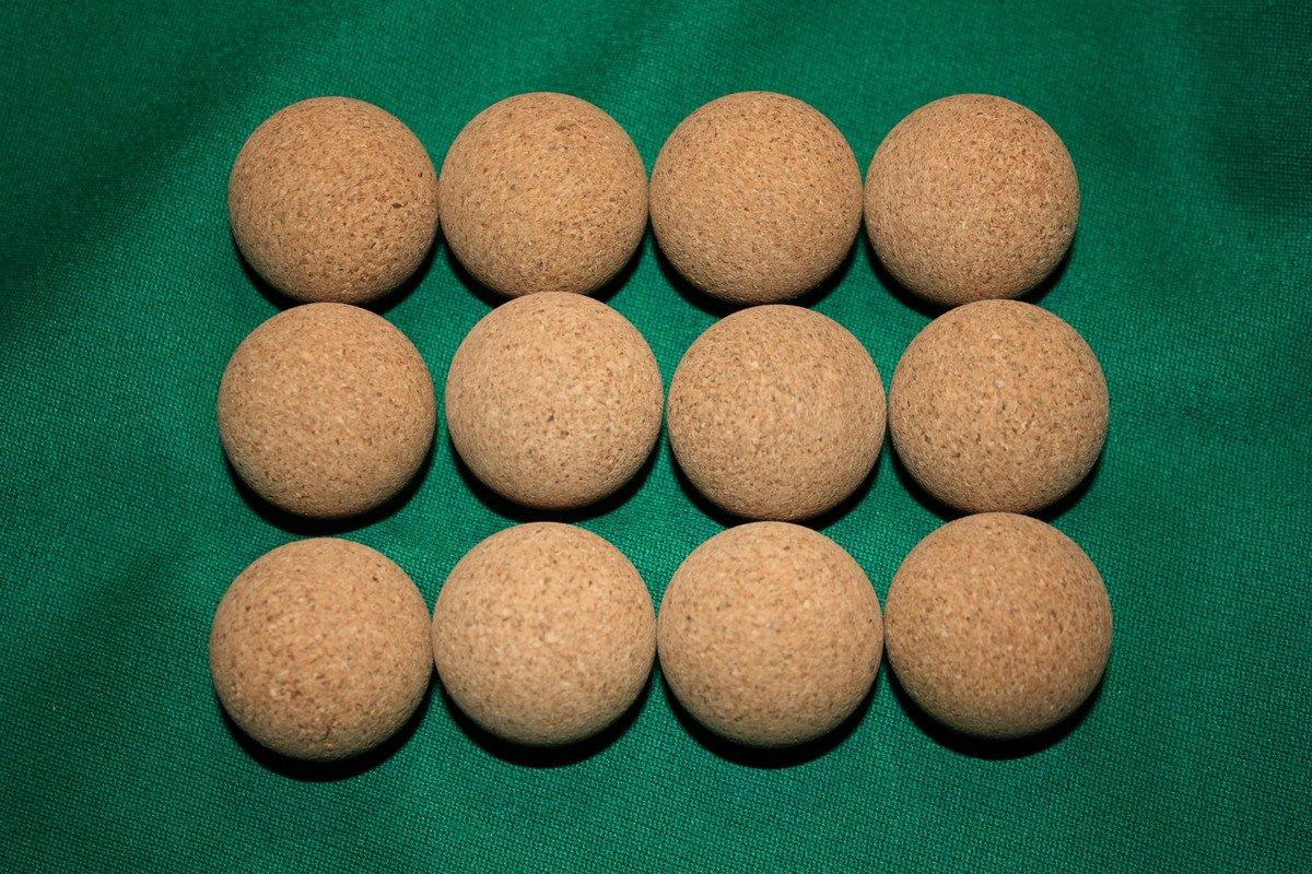 Set de pelotas de corcho para futbolín silenciosas