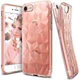 iPhone 7 Case, Ringke [AIR PRISM] 3D Contemporary Chic Design Pyramid Stylish Geometric Diamond Pattern Textured Back Flexible Light & Slim Protective Cover For Apple iPhone 7 2016 – Rose Gold