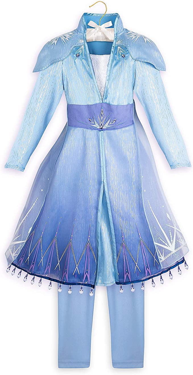 Disney Elsa Costume for Girls - Frozen II- Size 7/8 Blue: Amazon ...