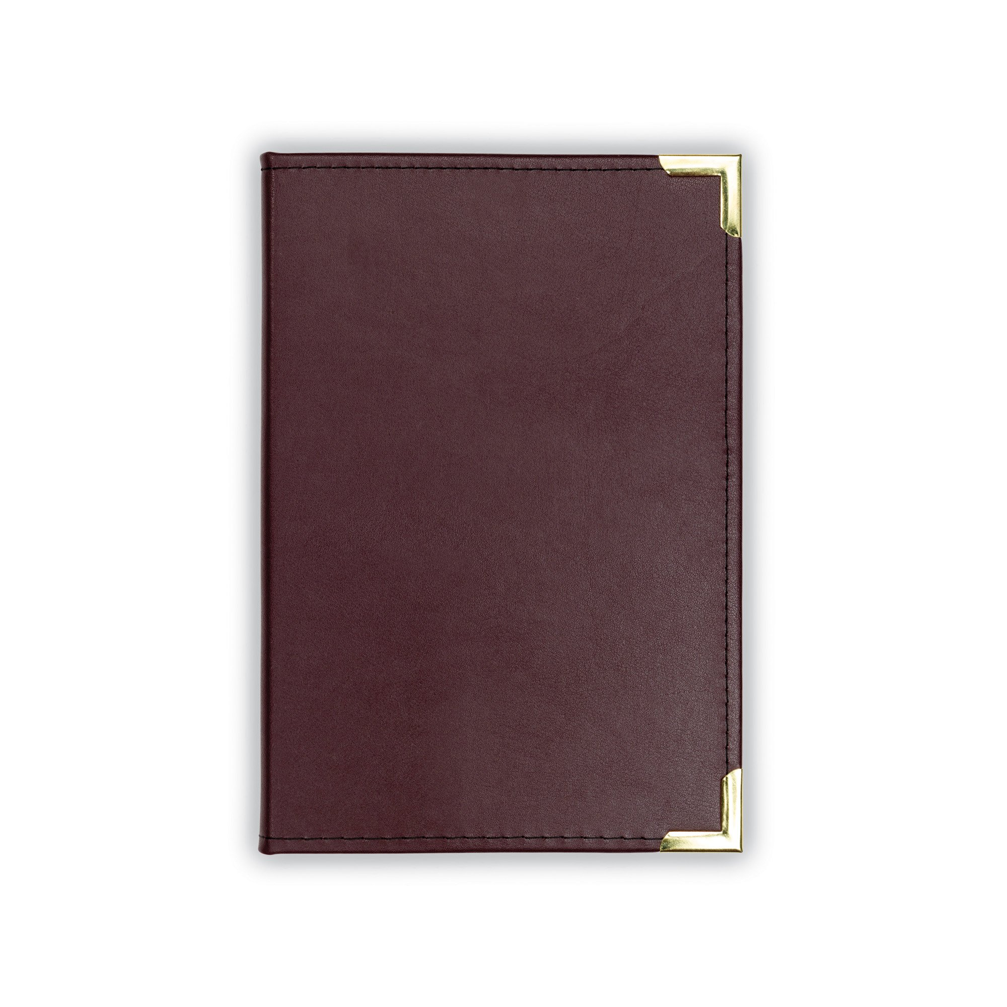 Samsill Classic Collection Executive Junior Padfolio - Interview / Business Portfolio with Brass Corners, 5 x 8 inch Writing Pad, Burgundy