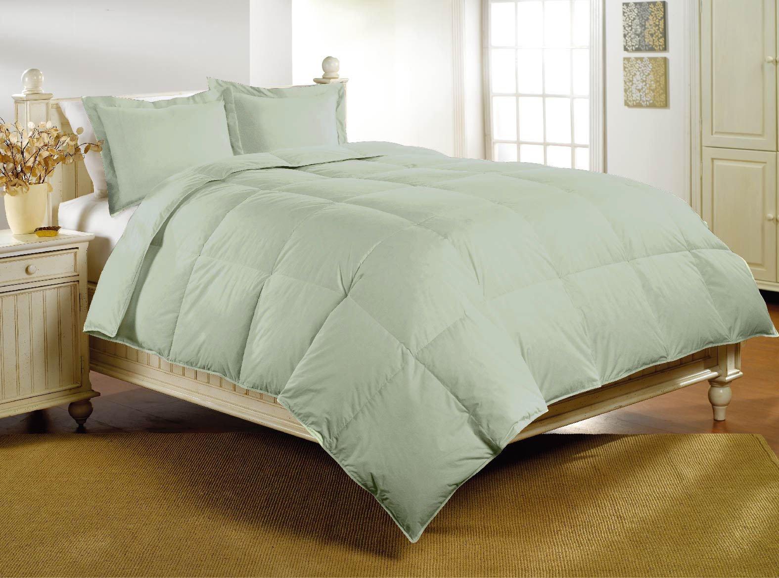 Luxlen Deluxe Sateen 350TC Down Alternative Comforter, Queen, Desert Sage