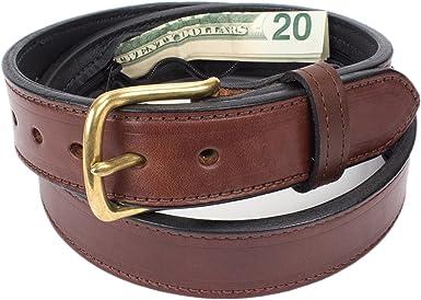 Trendy Apparel US Money Dollar Sign Printed Genuine Leather Belt