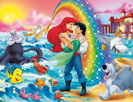 Amazon.com: La Sirenita Ariel Princesa Comestible Decoración ...