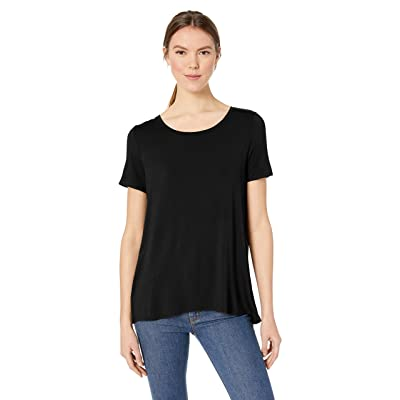 Essentials Women's Short-Sleeve Scoopneck Swing Tee: Clothing