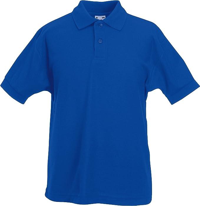 Fruit of the Loom 63-417-0-Camisa de Polo Unisex-niños Niñas Niños ...