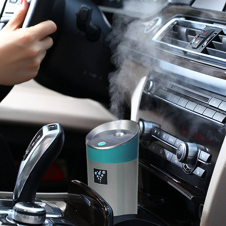 Air Humidifier Ainingshi 300ML USB Mist Ultrasonic Humidifier Mist Maker Portable Adjustable Mist Mode for Office Car Home Study Yoga Spa (Blue) by Ainingshi (Image #2)