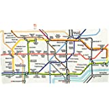 Underground Tube Map Printed Cotton Beach Towel, Transport for London Collection - 1306A