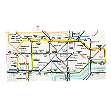 underground tube map printed cotton beach towel transport for london collection 1306a