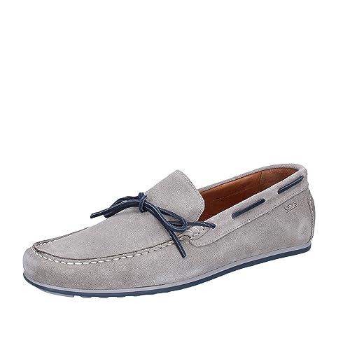 Keys Mocasines de ante para hombre Gris Size: 46: Amazon.es: Zapatos y complementos