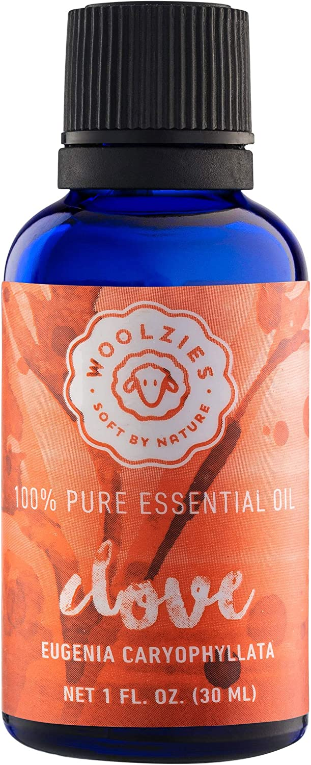 Woolzies Best Quality 100% Pure Undiluted Clove Essential Oil 1 Fl Oz | for Tooth Aches and Gums | Therapeutic Grade