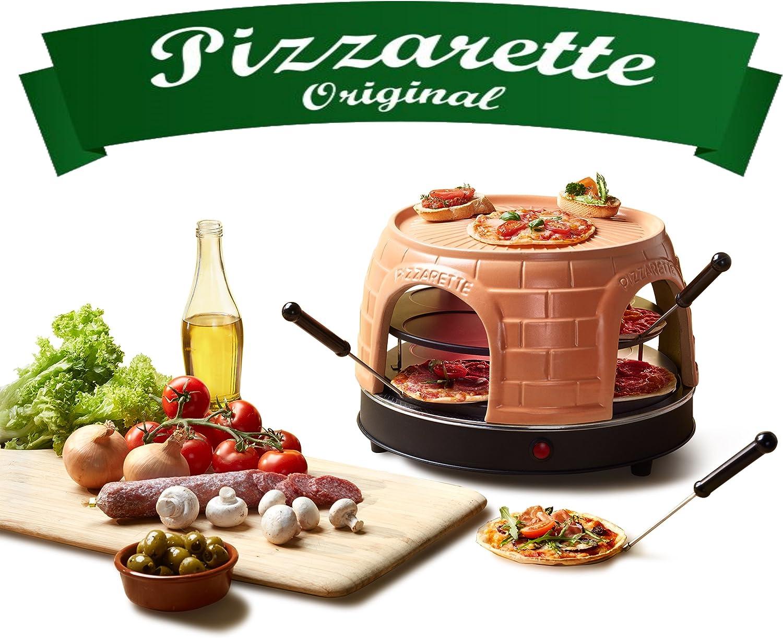 Emerio PO-116124 Horno para Pizzas Eléctrico, 1500 W, Negro, Naranja