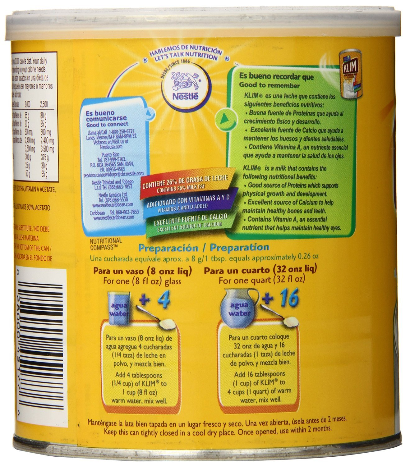 Amazon.com : Klim Full Cream Milk Powder, 12.69 Ounce 3 Pack : Grocery & Gourmet Food