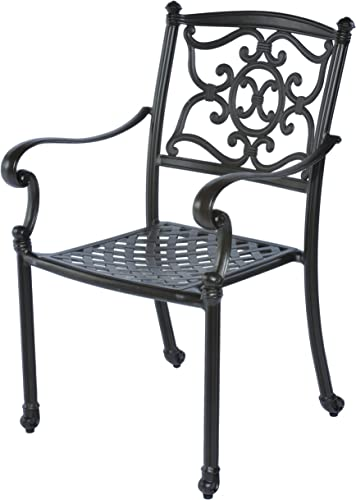 Meadow Decor 2622-45 Kingston Patio Dining Chair, Black